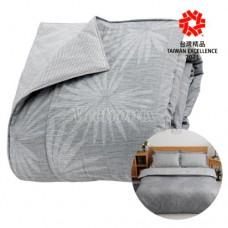 GP石墨烯遠紅外線寢具系列【鋪棉兩用被】(北歐風情-銀白灰)