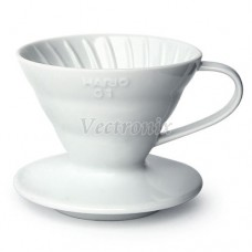 HARIO VDC-01W VDC-02W V60白色陶瓷濾杯 1-2杯/1-4杯